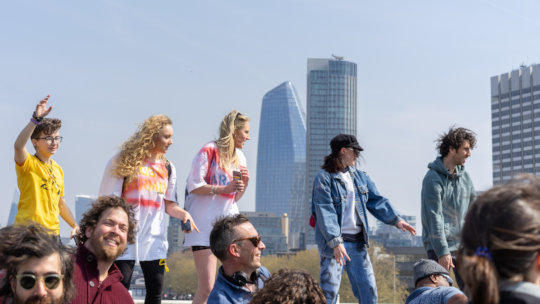 Dancing for the Planet Waterloo Bridge,15 Apr 2019