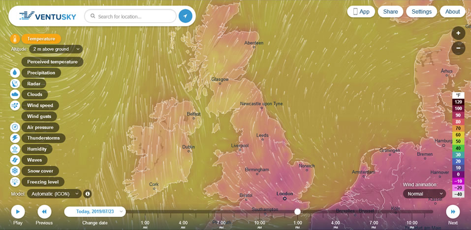 Wind and weather patterns at Saving Our Planet