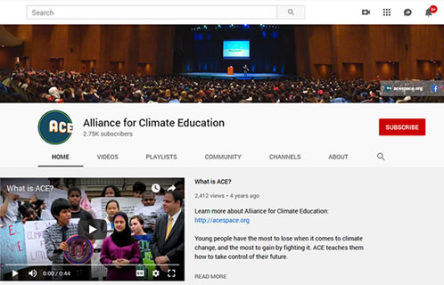 Alliance for Climate Education image at Saving Our Planet