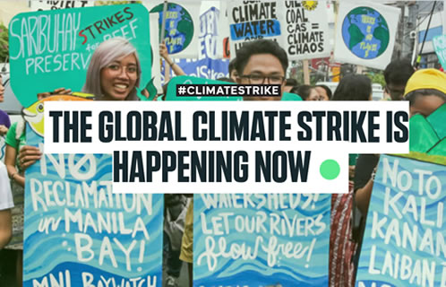 The Global Climate Strike image at Saving Our Planet