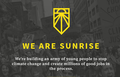 Sunrisemovement image at Saving Our Planet
