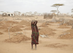 Climate Change Site A mass grave for children in Dadaab From Wikimedia Commons CC BY 2.0