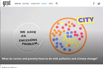 Grist News link graphic at Climate Change Site