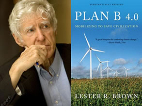 Lester Brown blog image at Climate Change Site