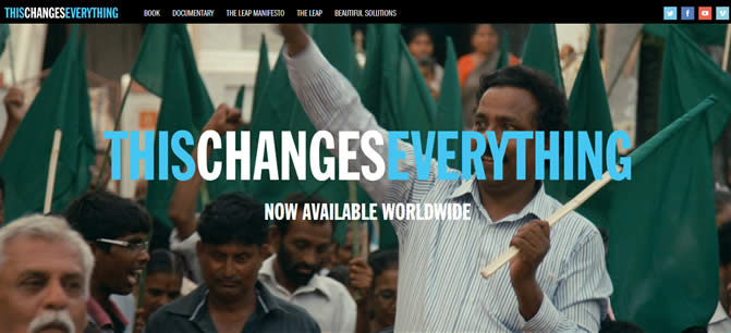 Link to thischangeseverything.org image at Climate Change Site