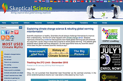 Skeptical Science News link graphic at Climate Change Site