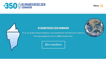 The Danish Climate Movement News link graphic at Climate Change Site